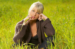 Blond Outdoors Stock Photography