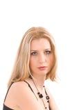 blond over ståendewhite Royaltyfria Foton
