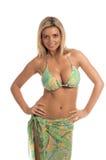 blond Paisley cekin bikini Zdjęcie Stock