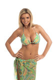 blond paisley för bikini sequin Arkivfoto