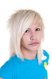 Blond with piercings royalty free stock photos