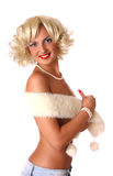 Blond pin up girl Royalty Free Stock Photo