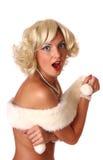 Blond pin up girl Royalty Free Stock Photos