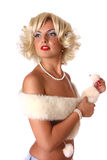 Blond pin up girl Royalty Free Stock Images