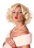 Blond pin up girl Stock Photo