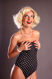 Blond pin up girl Royalty Free Stock Photos