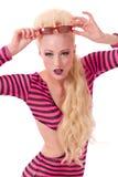 Blond pinup model posing Stock Image