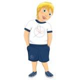 Blond pojkevektorillustration vektor illustrationer