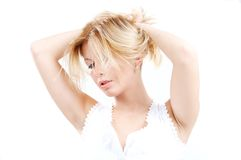 Blond portrait Stock Images