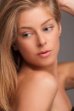 Blond portrait Stock Photography