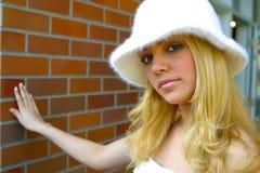 Blond portret stock afbeeldingen