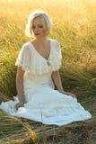 Blond portret royalty-vrije stock foto