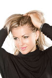 blond portreta seksowna kobieta zdjęcia stock