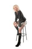 blond posera studio royaltyfri fotografi