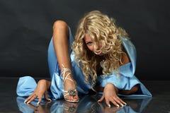 Blond posing in studio Royalty Free Stock Photo
