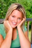 blond pretty woman Στοκ Εικόνα