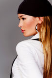 Blond pretty woman profile Stock Photography