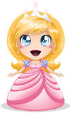 Blond Princess In Pink Dress. A illustration of a princess with crown in pink dress royalty free illustration