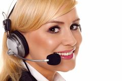 Blond receptionist Royalty Free Stock Photo