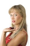 Blond and red cherries Royalty Free Stock Photos