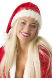 Blond santa claus Stock Image