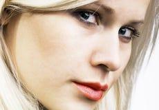 Blond schoonheidsportret stock foto's