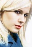Blond schoonheidsportret stock fotografie