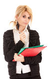 Blond secretary Royalty Free Stock Photos