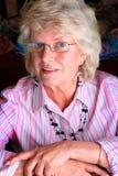 A Blond Senior Lady Royalty Free Stock Photos