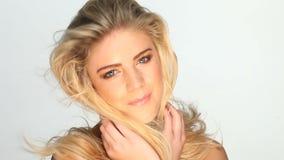 blond sexig kvinna arkivfilmer
