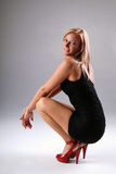 blond sexig kvinna Arkivbild