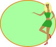 blond sexig ramflicka stock illustrationer