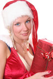 Blond santa girl 3 Royalty Free Stock Photography
