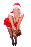 Blond sexy santa grl Royalty Free Stock Image