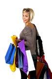 blond shoping Fotografering för Bildbyråer