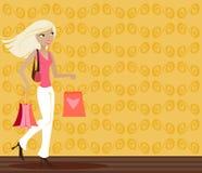 blond shoppare Arkivbilder