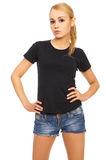 Blond in Shorts Royalty Free Stock Photography