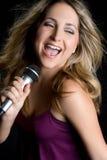 Blond Singer Royalty Free Stock Photos