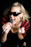 Blond Singer Stock Images