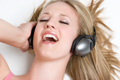 Blond Singing Girl Royalty Free Stock Image