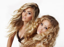 Blond sisters Royalty Free Stock Images