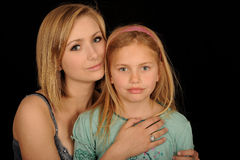 Blond sisters Royalty Free Stock Photography