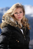 Blond skier Stock Images