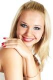 blond skratta kvinna Royaltyfri Bild