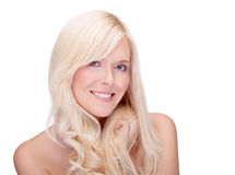 Blond smiling Royalty Free Stock Photo