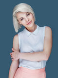 Blond smiling woman Royalty Free Stock Photo