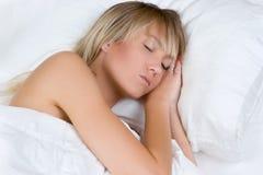 blond sova kvinna Royaltyfri Bild
