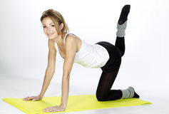 blond sprawności fizycznej dziewczyny sport Zdjęcia Royalty Free