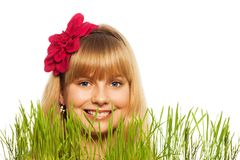Blond spring boy Royalty Free Stock Photos