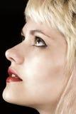 blond stående arkivbild